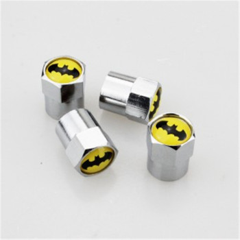 Universal Batman Emblem Logo Tire Valves 4Pcs