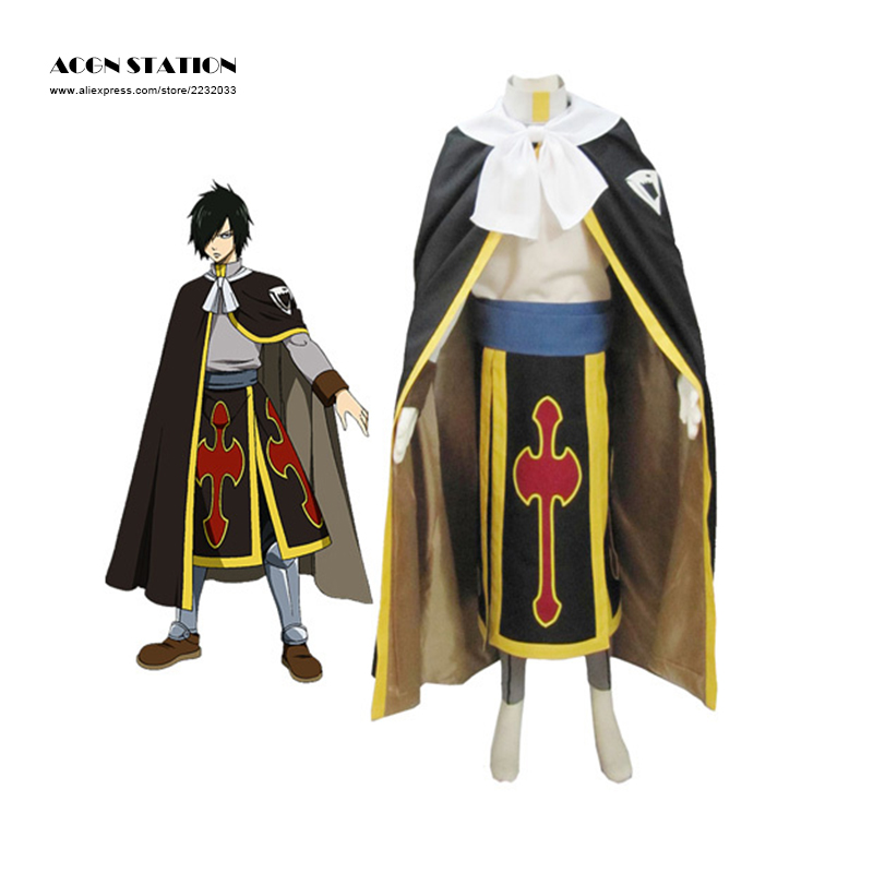 2018 Free Shipping Black New Fairy Tail Dragon Slayer Shadow Dragon Rogue Cheney Ryos Full set Brand Cosplay Adult Costumes