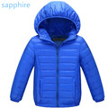 Boys Girls Kids White Duck Down Slim Kids Parkas Warm Girl Boy Clothing Down Jackets Outerwear Duck Coat Feather Children Hooded