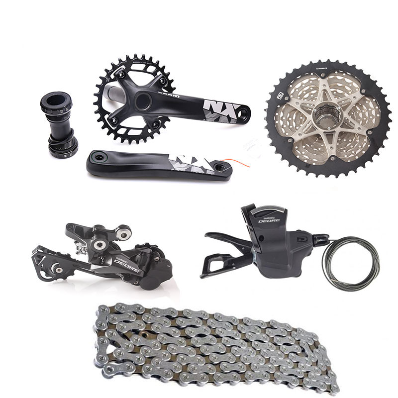 SHIMANO DEORE M6000 10S Speed Bicycle Groupset 11-42T with NX Crankset & Shifter Lever & Rear Dearilleur & Cassette & Chain