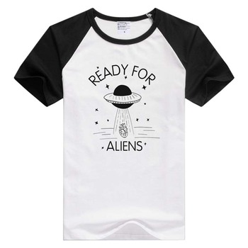 READY FOR ALIENS short sleeve casual Men Women T-shirt Comfortable Tshirt Cool Print Tops GA1274