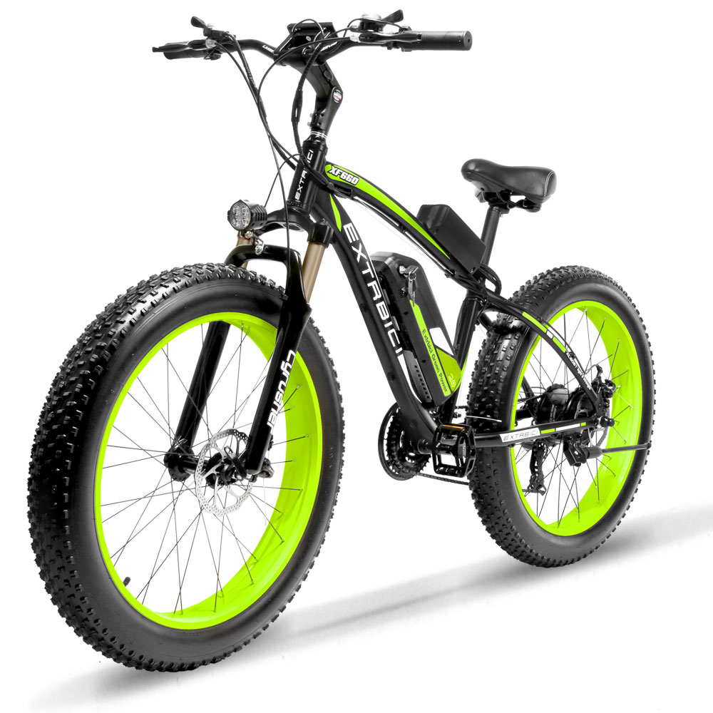 Cyrusher XF660 1000W 48V motor eletric bike 21 speeds oil spring full suspension fork E with smart remote control