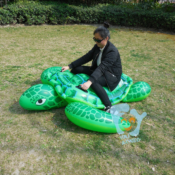Pool inflatable toys inflatable turtle swimming float for Piscinas toy