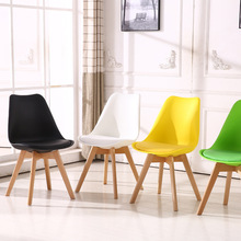Solid Wood Casual Plastic Reliable Back Chair Simple Dining Room Balcony Living Room Home Furniture Study Bedroom Student Chair hot new arm chair fashion oak chair wooden dining chair living room furniture wood plastic furniture colors chair