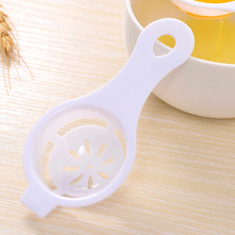Telur Pemisah Memilah Dapur Gadget Plastik Filter Saringan Pembagi Pemegang Kichen Aksesoris Corong Kichen Alat Home Gadget