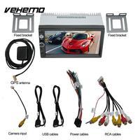 Vehemo Bluetooth MP5 Player Аудио Видео плеер автомобиля аудио электроника для автомобиля MP5 для автомобиля Fm Player автомобиль дистанционного Управление