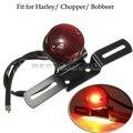 Motocicleta placa da cauda brake parar luz traseira lâmpada apto para harley/chopper/bobbeer moto custom