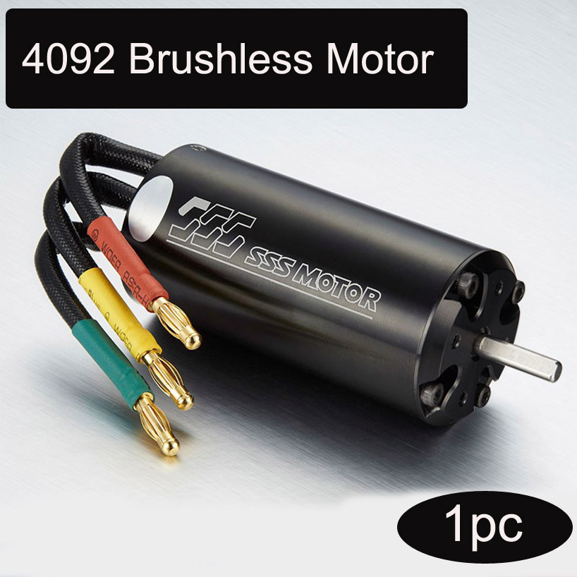 1pc SSS 4092 4-pole Water-cooled Motor Brushless Inner Rotor RC for DIY Toys Parts Car Boat Aircraft Model