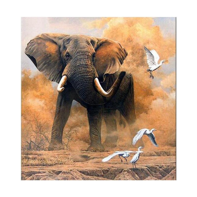 Full Square/Round Drill 5D DIY Diamond Painting Animal elephant bird Diamond Embroidery Rhinestone mosaic Home Decor gift FZ707