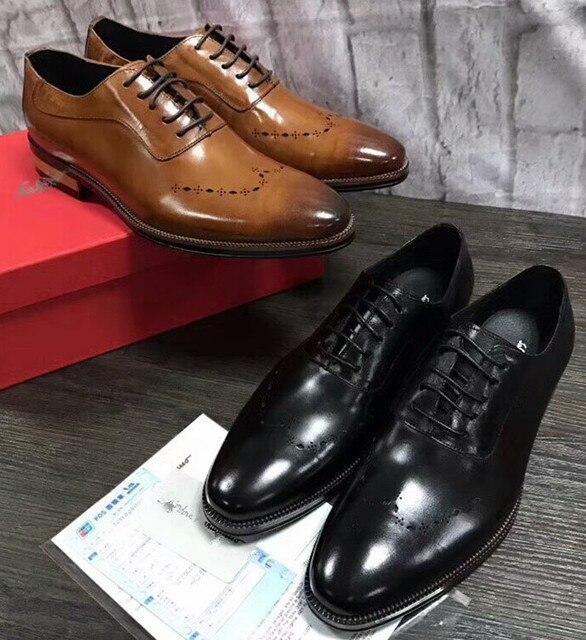 Mode Cuir Nouvelle Sculpté Angleterre En Chaussures Hommes Style tRqWf16U