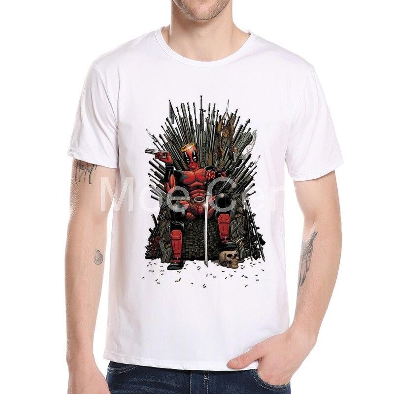 MOE CERF Deadpool / Game Thrones- ի վերնաշապիկ - Տղամարդկանց հագուստ