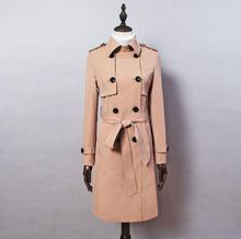 European spring double-breasted trench coat for women long sleeves coats womens casaco feminino overcoat woman clothes ladies fashion spring ladies trench coat for women double breasted coats womens casaco feminino medium length overcoat woman jaqueta