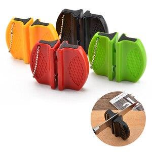 Image 1 - Портативная мини точилка для кухонных ножей, кухонные инструменты, аксессуары, креативный Тип бабочки, двухступенчатая точилка для карманных ножей для кемпинга