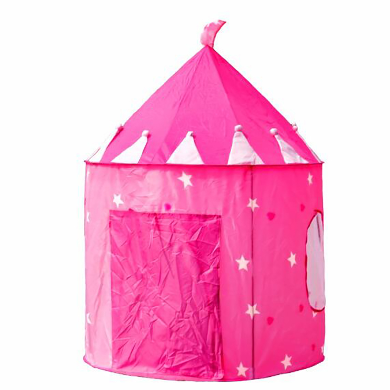 1 Pcs Kids Portable Tent Children Folding Play House Outdoor Childrens Toy Tent Princess Prince Castle Tent Gifts
