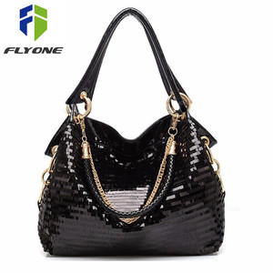 Image 1 - Femmes messenger sac mode Glisten sac à bandoulière en cuir synthétique polyuréthane bandoulière sac fourre tout Cool sac en cuir femmes sac à main cool cadeau à fille