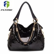 Kadın askılı çanta Moda Glisten pu deri omuz çantası çapraz vücut çanta Tote Serin Çanta Deri Kadın Çanta serin hediye kız için