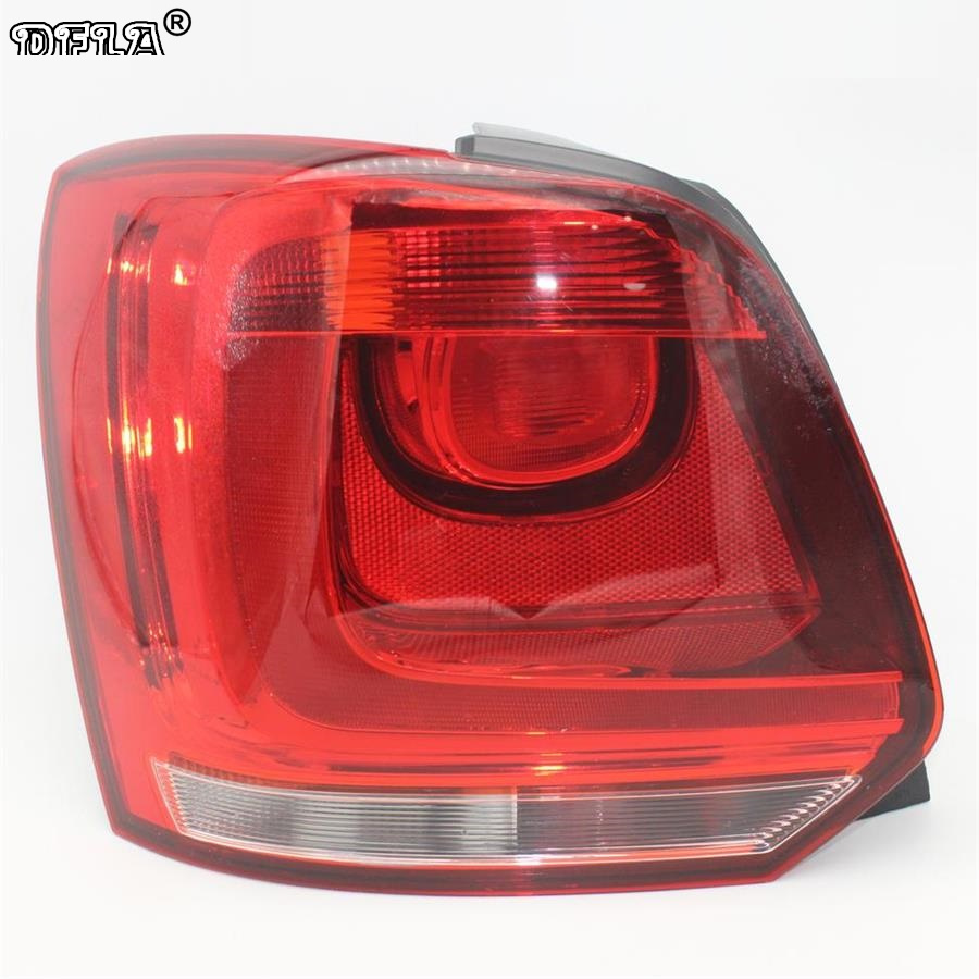Left Side Car Rear light For VW Polo 6R Hatchback 2009 2010 2011 2012 2013 2014 New Rear Light Tail Light car auto accessories rear trunk trim tail door trim for subaru xv 2009 2010 2011 2012 2013 2014 abs chrome 1pc per set