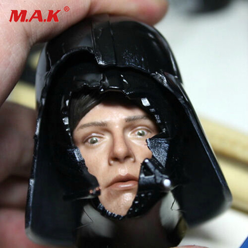 1/6 Scale HT DX07 VIP Star Wars Darth Vader Helmet with Luke Dark Face Fear Face Head Carving Model Fit 12 4