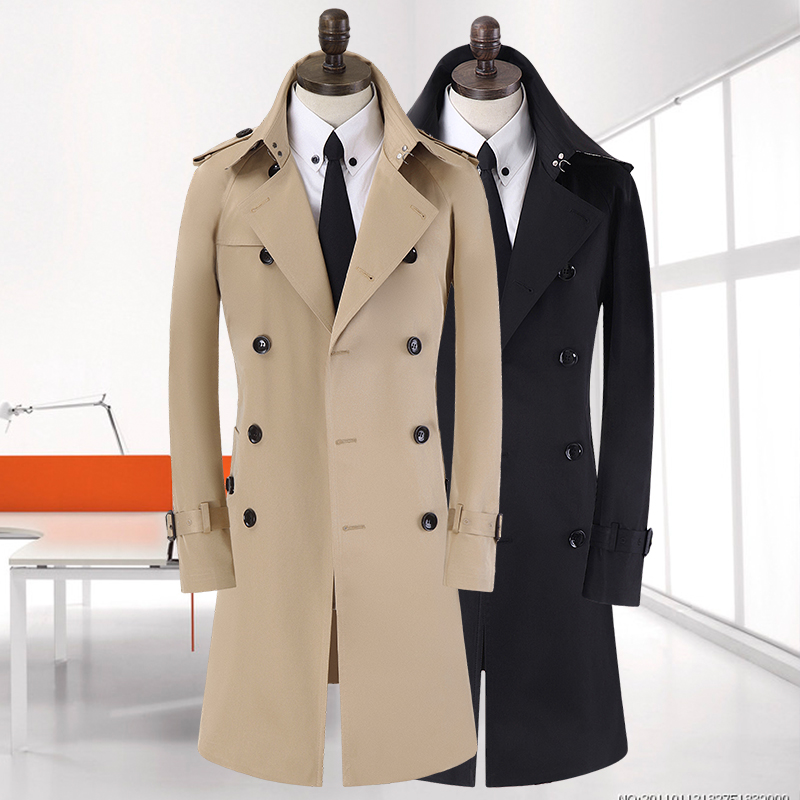 Windbreaker New arrival fashion casual Mens Coat Men high quality winter Slim Double-breasted overcoat plus Size S-7XL8XL9XL10XL