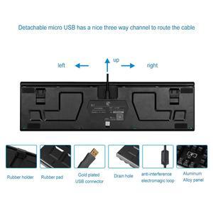 Image 3 - E 要素 Z 88 rgb メカニカルゲーミングキーボード、プログラマブル rgb バックライト、ブルースイッチ触覚 & カチッという感じ、防水 104 キー