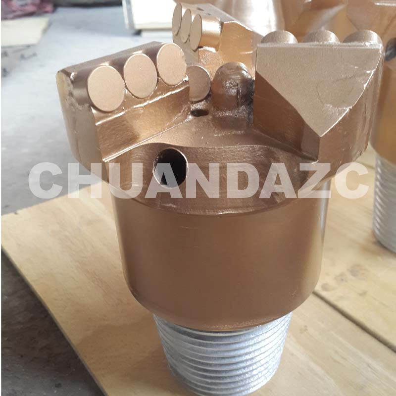 132mm 3 baldes PDC Drag bit, hot sale high quality drag drill bit, pdc bit hot sale best pdc cutter bit 93mm pdc drag bit for water drilling