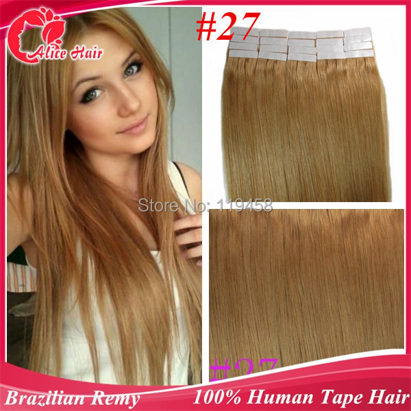 Remy Tape Human Hair Extensions Ginger Blonde 2720 Pcs40 Pieces