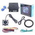 Qualidade Chave Inteligente RFID sistema de alarme de carro com botão iniciar & Transponder Imobilizador do motor bloquear ou desbloquear
