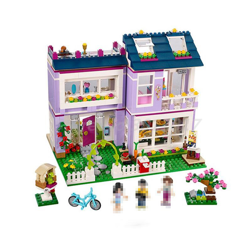 BELA 10541 Friends Emma's House Bricks Figure Set 41095 Building Blocks Model Educational Toys Girls Children Christmas Gifts 2016 bela 10497 10496 10493 girls friends city park cafe building blocks set figures bricks toys 41119