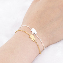 fdd644a6922a (Ship from US) Pulseras Mujer Moda 2019 Stainless Steel Gold Chain Origami  Elephant Bracelets For Women Lucky Jewelry Pulseira Masculina Mujer