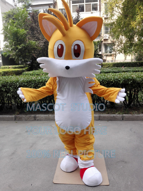 miles tail fox mascot costume Sonic The Hedgehog custom fancy costume anime cosplay kit mascotte theme & miles tail fox mascot costume Sonic The Hedgehog custom fancy ...