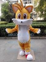 miles tail fox mascot costume Sonic The Hedgehog custom fancy costume anime cosplay kit mascotte theme fancy dress 41383