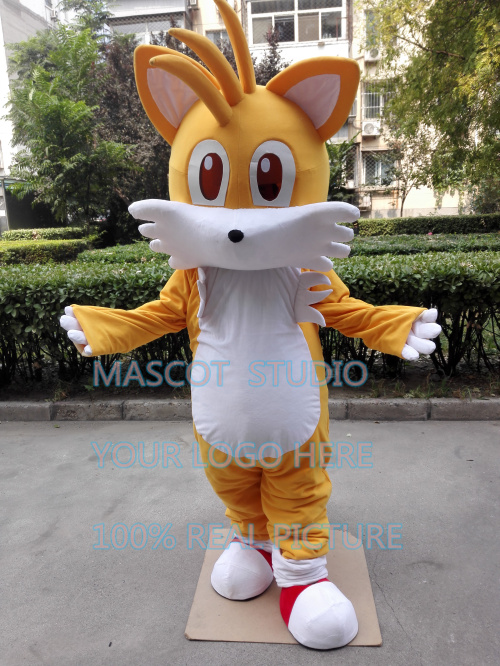miles tail fox mascot costume Sonic The Hedgehog custom fancy costume anime cosplay kit mascotte theme fancy dress 41383
