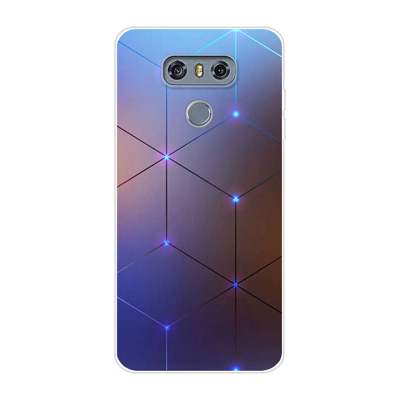 new styles 48389 bf265 For LG G6 Case Cover 5.7 Clear Printing Soft TPU Back Cover For LG6 LGG6 G  6 H870DS H870 Silicone Protecor Fundas Phone Cases