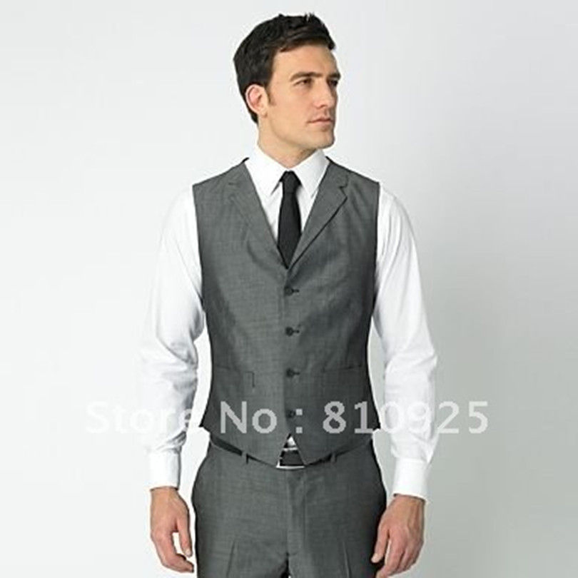 groom vests gray!wedding/dinner suit for men five button,free ...