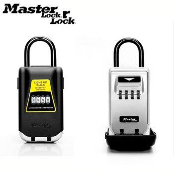 Master Lock Key ปลอดภัยกล่องคีย์กล่องเก็บกุญแจใช้ Up หน้าปัดรหัสผ่านกุญแจล็อค Hook Security Organizer กล่อง