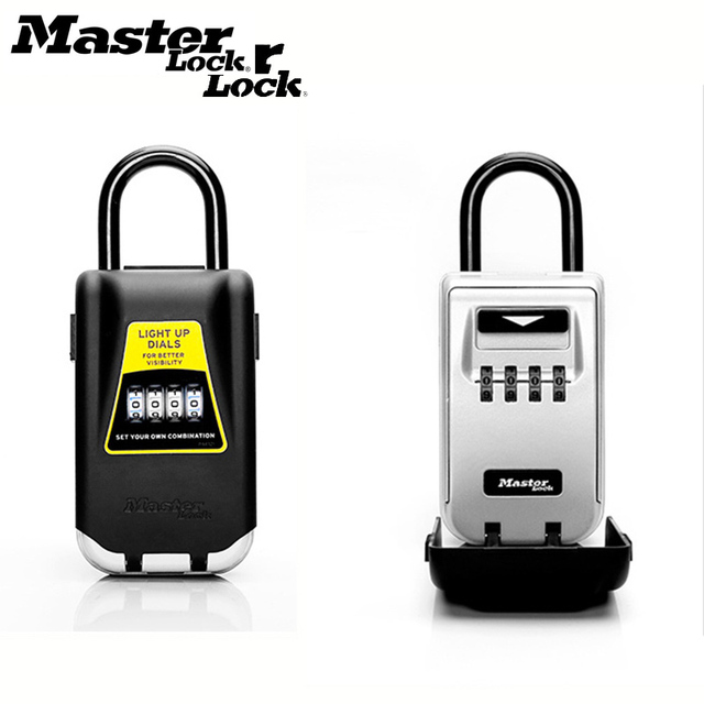 Master Lock Outdoor Key Safe Box Keys Storage Box Padlock Use Light Up Dials Password Lock Keys Hook Security Organizer Boxes