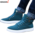 1Pair New Brand Flat Heel Men's Shoes Autumn Winter Ankle Boots Male Snow Boots Casual British Style Men Canvas Shoes PA871485