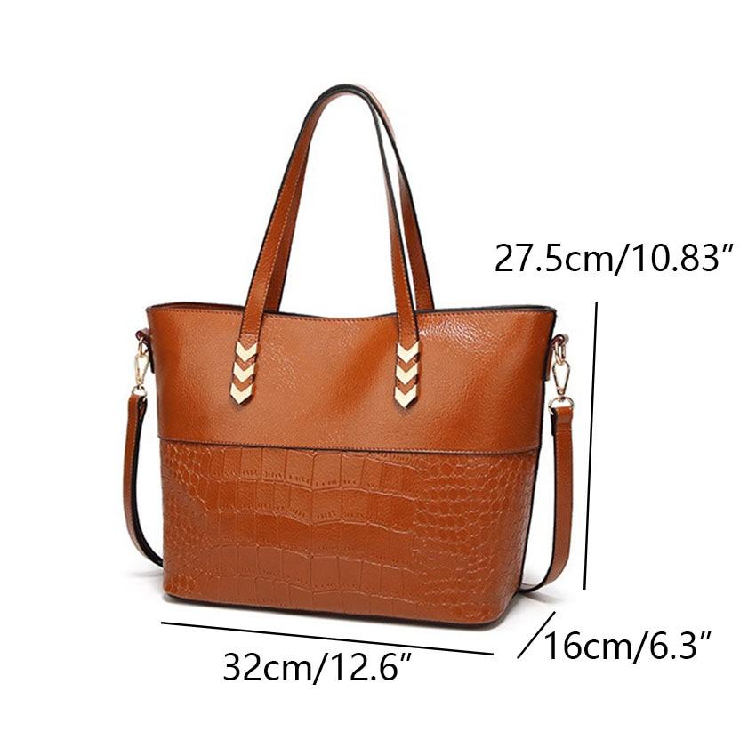 Luxury brand Large Leather Tote handbag For women Shoulder bag top-handle Office Shop hand bag bag Arrow hardware Design 3