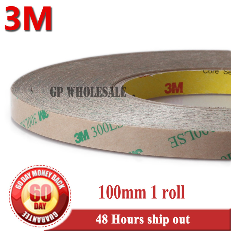 100mm*55M 3M 9495LE 300LSE PET Super Strong Sticky Double Sided Adhesive Tape for iPad Phone LCD Frame Panel Touch Screen Joint 2rolls 1mm 5mm 5m strong pet adhesive pet red film clear double sided tape no trace for phone lcd screen free shipping