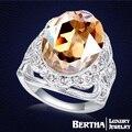 Anillo de calidad superior con verdadero austriacos elementos de Swarovski Crystal venda de boda anillos para mujeres 2016