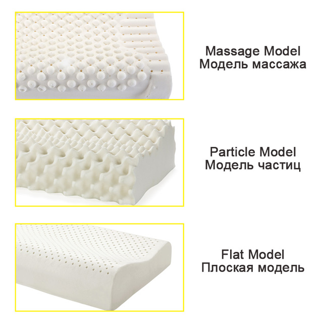 NOYOKE Orthopedic Sleeping Bed Pillow Cervical Massage Natural Latex Release Pressure Pillows for Living Room 10