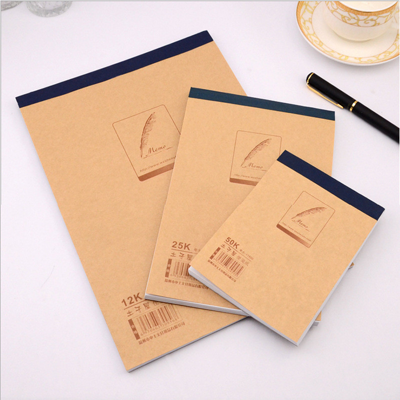 New Upturning kraft notebook notepad Cream Cover Graffiti Notebook Blank Legal Pad for Office and School Supplies Kraft Notepad good time kraft paper notepad soft 64k notebook wholesale gifts office