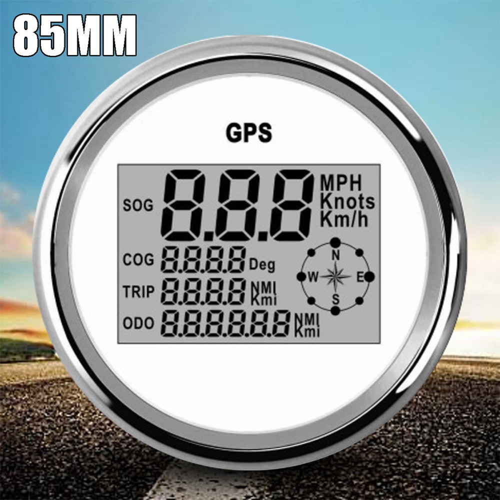 New Style High Quality 85mm Auto Car Waterproof Accurate Portable GPS Digital Speedometer Odometer Gauge Truck