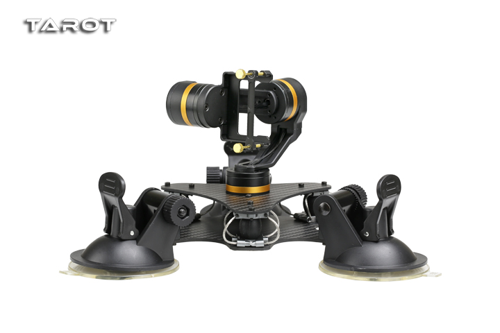 Tarot ZYX T-DZ 3-Axis Metal Camera Gimbal Stabilizer Car Mounted PTZ TL3T03 for GOPRO HERO 3/3+/4 Action Sport Camera tarot 3d v metal 3 axis ptz gimbal for gopro hero 5 camera stablizer tl3t05 for fpv drone system action sport camera