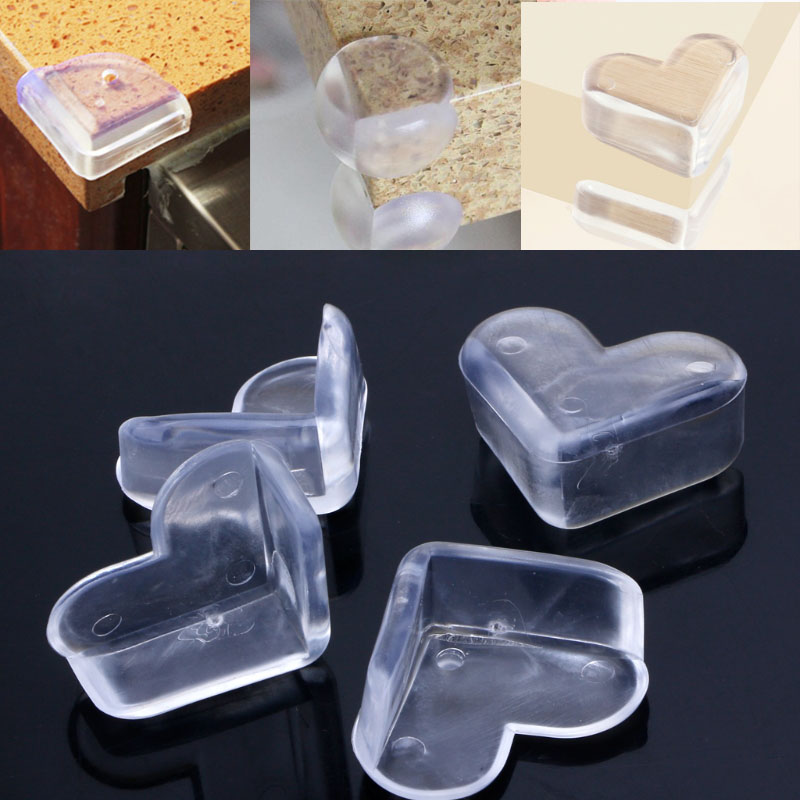 10pcs/lot Transparent Rubber Desk Corners Guard Baby Safety Protector Products Table Corner Edge Protection Toddler Safety Care