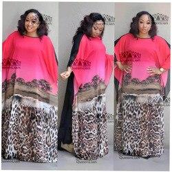 2018 (L-XXXL) neue Mode Chiffon Super Size Afrikanischen Lose Lange Dashiki Traditionellen Kleid Für Dame (XFBW #)