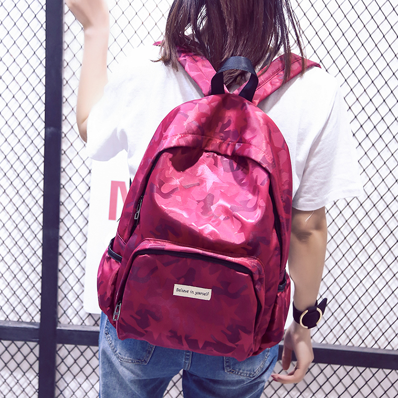 2017 Unique Camouflage Womens Backpack Casual Travel Bags Student School Bag Girl Backpacks Casual Travel Rucksack