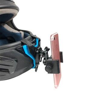Image 4 - دراجة نارية خوذة الذقن قوس ل Gopro SJCAM شاومي يي عمل كاميرا و آيفون سامسونج هواوي جبل حامل هاتف الملحقات