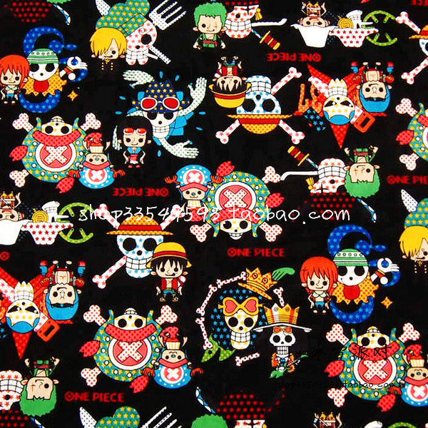 100*110cm ONE PIECE Skull cute baby Plain cotton fabric Sewing Fabric DIY Handmade Material Hometextile Patchwork Bag