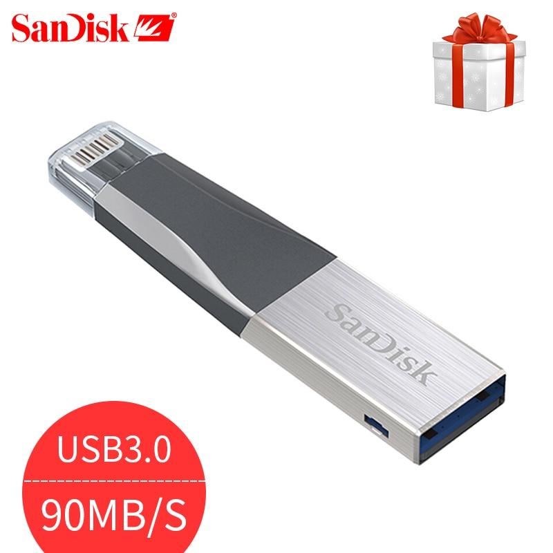 SanDisk usb disk otg 16GB 32GB 64GB usb flsh drive 128GB 3.0 memory disk High speed 90MB/s pendrive otg iphone /iPad/iPod/laptop